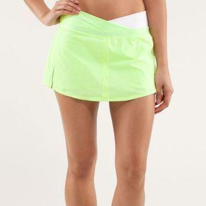 Lululemon Run: Pace Skirt Neon Green Size 4